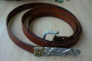Viking Leather Belt by NightPhoenixArt