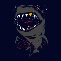 Shark with Pixelated Teeth by Design-By-Humans