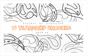 Brushes Pack 04: Teardrops by PaperJunk