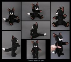 Plushie Commission: Billy the Teddy Cat by Avanii