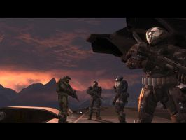 Halo Reach: sunset noble by purpledragon104