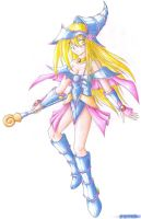 Dark Magician Girl 7 - pencils by TeraMaster