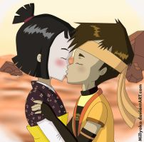 Lyoko kiss by Millyoko