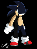 Dark Sonic Lineless by frandlle