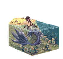 Pixel merman by Asano-nee