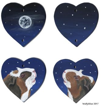 Guinea Pig Moonlight Hearts by wolfysilver