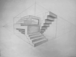 Abstract Stairs by blondes-sketchbook