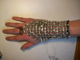 Pop can chainmail forearm by axolot62