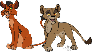 Zira And Taka  Collab by Awesomesauce2014