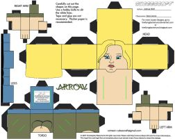 Arrow3: Sara Lance Cubee by TheFlyingDachshund