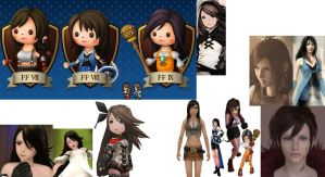 Dark Haired Girls of Final Fantasy by CloudyRose06