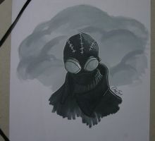 Spider-Man Noir  w/ DB Twin Marker by CuberToy