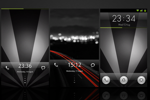 Three MIUI Widgetlocker themes by chrisbanks2
