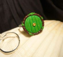 Hobbit Hole - adjustable Ring by Ganjamira