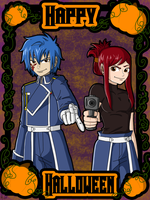 Happy Halloween from Jellal and Erza by Maygirl96