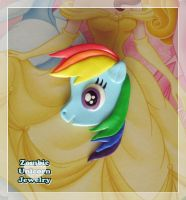 Rainbow Dash 2 in 1 brooch and pendant by Galadriel89