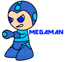 Art Day 01- Megaman by EliOceans