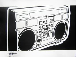 Ghettoblaster by the-street-improver