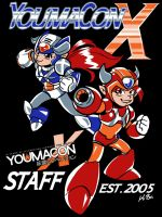Youmacon 2014 Staff Shirt Design by kevinbolk