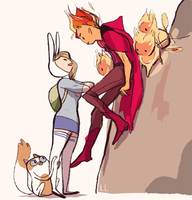 fionna and flame prince by CREAMY-CREAM