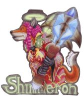 Shimmeron Badge by IndigoAngelCat