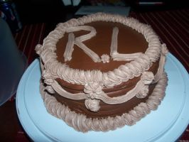 Death By Chocolate B-day Cake by Crosseyed-Cupcake