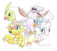 The Digimons :Rookies by Winged-Dragoness