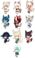 Pixel Page Dolls by amouu