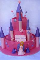 Princess Pink Castle Cake by Verusca
