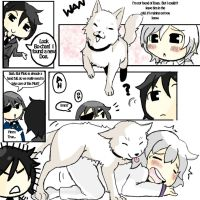 Ash is a dog lover by iComicArtist