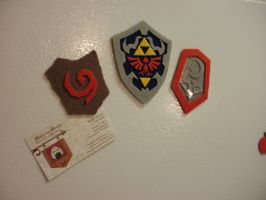 Video Game Magnet - Legend of Zelda Shields by merlinemrys