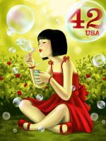 42USA Bubbles by cry-ky