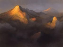 The Golden Mountains by noahbradley