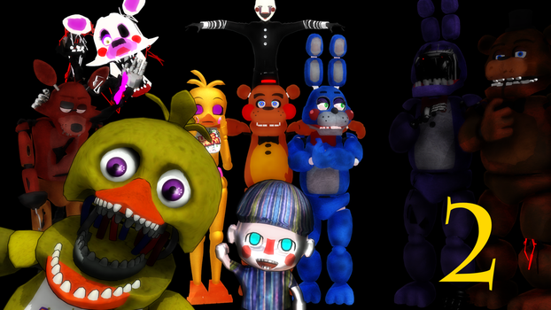 Mmd makes five nights at freddy s 2 not scary