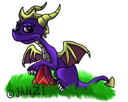Spyro and diamond by Janziu
