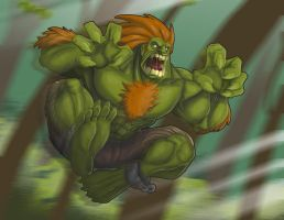 Blanka in the woods by Daniel-Velez