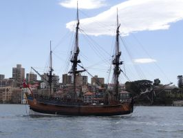 Tall Ship - Endeavour by veryevilmastermind