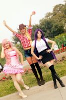 Pinkie Pie - Rarity - AppleJack by dashcosplay
