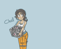 Portal 2 - Chell by nanobit