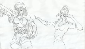 Mobster Iczer-2 and some OC by RyugaSSJ3