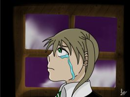 Maka Albarn Side View Practice #1 (Digitalized) by SoulEaterLover123123