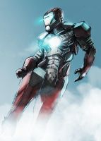 Iron Man color draft by helioart