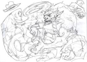 Legion of Monsters - Werewolf, pencils by WhotheFuckisRemBroo