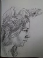 Selfportait sketch by Silphes
