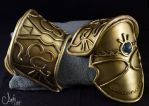 Zelda Twilight Princess Shoulder pieces by x-Angel0