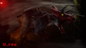 Ultimasaurus 3d jurassic park chaos effect by Wolfhooligans