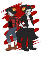 ARADIA AND DEMARA GENDERBENDERS by TaPloAlBoReMiXxz