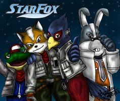 star fox team by shigotsu
