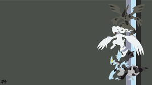 Tao Trio (Pokemon) Minimalist Wallpaper by slezzy7