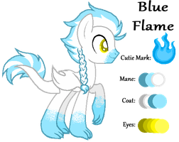 MLP:Blue Flame Profile by kiananuva12